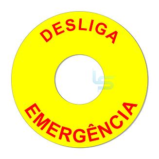 Botoeira Desliga Emergência Dimensão Em Mm: Axlxp 60Mm Furo Central : Ø22Mm