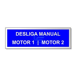 Plaqueta De Alumínio Desliga Manual Dimensão Em Mm: Axlxp 20X60X0,5 Fixação Adesiva Ou Furação