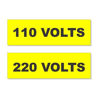 Cód. 8 Plaquetas Identificação De Tomadas   Volts
