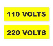Cód 10 Plaquetas Identificação De Tomadas Volts