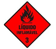 Cód 13 Plaqueta Simbologia De Risco Inflamável