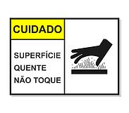 Cód 5 Plaqueta De Alerta Cuidado Superfície Quente
