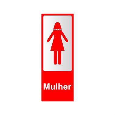 Cód 3 Aviso Banheiro Feminino