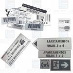 Comunicação visual placas de alumínio