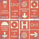 Placas de sinalização comercio