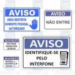 Placas de sinalização para condomínios