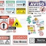 Placas pvc personalizadas
