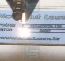 Gravação a laser em aço inox